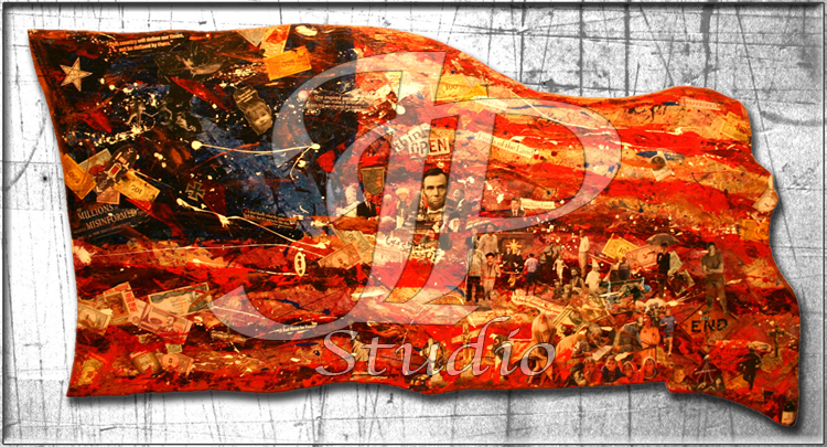 """Stripes of Freedom""; American Flag; Artist Jared Pragel"